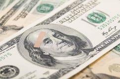 Ekonomisk skuld för dollarräkning Arkivbilder