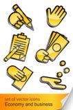 ekonomisk symbol för affär Vektor Illustrationer