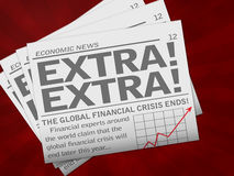 ekonomisk tidning Royaltyfria Foton