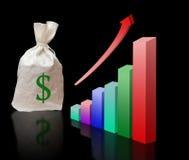ekonomisk tillväxtmetafor Arkivbilder