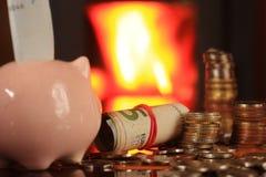 Ekonomisk uppvärmning i spisen Royaltyfria Bilder