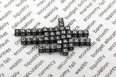 Ekonomiska beslut Arkivbild