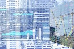 Ekonomiska problem och affärskris på den Real Estate sektoren arkivbild