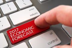 2017 ekonomiska prognos - nyckel- begrepp för tangentbord 3d Arkivfoton