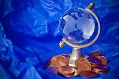 ekonomiskt globalt för kris Arkivfoto