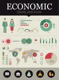 ekonomiskt infographic Arkivbild