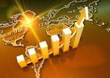 Ekonomitillväxt vektor illustrationer