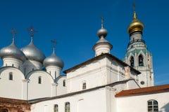 Ekonomsky body, bell tower and the dome of St. Sophia Cathedral. Vologda. Kremlin. Ekonomsky body, bell tower and the dome of St. Sophia Cathedral stock photos