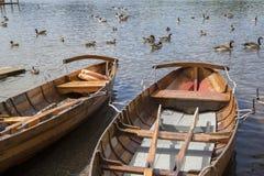 Ekor på Derwent vatten, Keswick, sjöområde Arkivfoto