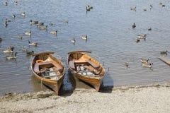 Ekor på Derwent vatten, Keswick, sjöområde Arkivbilder