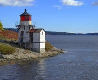 Ekorrepunktfyr Arrowsic Maine Fotografering för Bildbyråer
