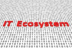 IT ekosystem ilustracja wektor