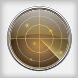 Ekran radaru Obrazy Royalty Free