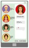 Ekran rozmowa telefoniczna royalty ilustracja