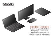 Ekran sensorowy, wektorowe grafika, smartphone i gadżet, Obrazy Stock