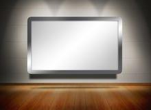Ekran wystawiający pod światłami reflektorów Obrazy Royalty Free