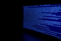 Ekran z deweloperu oprogramowania kodem Zdjęcie Stock