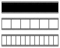 Ekranowa pasek kolekcja rabatowy bobek opuszczać dębowego faborków szablonu wektor Kino, film, fotografia, filmstrip rama royalty ilustracja
