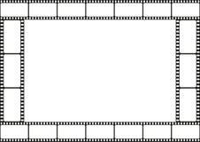 Ekranowa paska szablonu granica, kino rama, wektor Fotografia Royalty Free