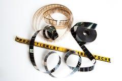 Ekranowa rolka: projectionist zadawala ostrość obraz royalty free