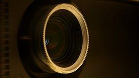 Ekranowego projektoru obiektyw zdjęcie wideo