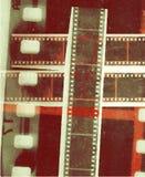 Ekranowej rolki kolażu filmu Wektorowy pasek w sepiowych różnicach Zdjęcia Royalty Free