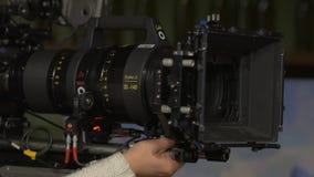 Ekranowej Ustalonej kamery Duży obiektyw zbiory wideo