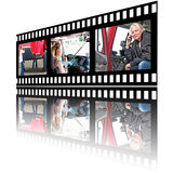 Ekranowi Stip wizerunki kobieta kierowca ciężarówki Zdjęcie Stock