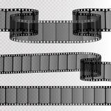 Ekranowy pasek na przejrzystym tle Film rolki szablon wektor royalty ilustracja