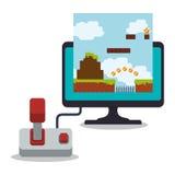 ekranu komputerowego kontrolera gemowy online joystick Zdjęcie Stock