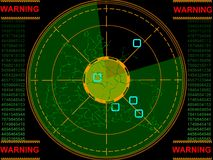 ekranu radaru Zdjęcie Stock
