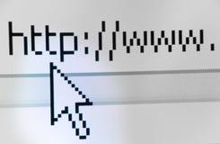 ekranu wyszukiwarka strzału sieci Zdjęcia Stock