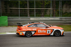 Ekris BMW M4 GT4 car racing at Monza. Racing Team Holland by Ekris Motorsport faces the first race of the Competition 102 GT4 European Series. The Ekris M4 is Stock Images