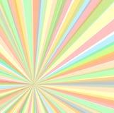 Ekscentryczny promienia tło, wektorowa ilustracja Obrazy Stock