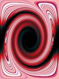 Ekscentryczny retro czerwony zawijasa tło, abstrakt Rocznik psychodeliczny Fotografia Stock