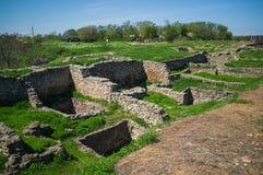 Ekskawacja antyczne kamienne budowy, domy i struktury, Zdjęcie Royalty Free