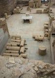 Ekskawacja tarasowi domy, Ephesus Fotografia Royalty Free