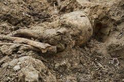 Ekskawacje pogrzeb żołnierze Drugi wojna światowa Zdjęcie Royalty Free