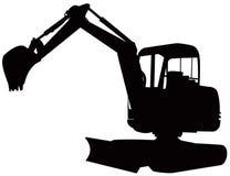 ekskawator budowy kopaczy Zdjęcia Royalty Free