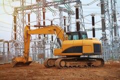 Ekskawator na przemysłowej budowie energetyczna łatwość Zdjęcie Stock