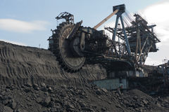 Ekskawator przy coalface Zdjęcia Royalty Free