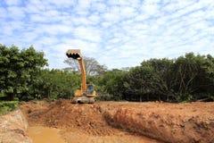 Ekskawatoru żuraw Fotografia Royalty Free