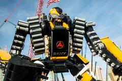 Ekskawatoru robot Zdjęcie Royalty Free