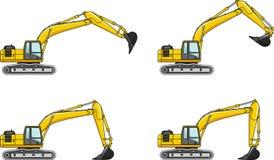 ekskawatory Ciężkiej budowy maszyny ilustracji