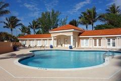 Ekskluzywny basen i cabana Obrazy Stock