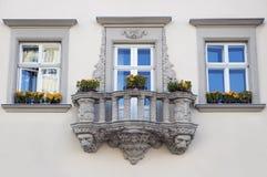 ekskluzywny sztuka balkon obraz stock