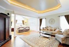 ekskluzywny wewnętrzny mistrzowski apartament Zdjęcia Royalty Free