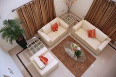 Ekskluzywny wnętrze bungalow Zdjęcia Royalty Free
