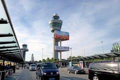 Ekspedyci wierza przy Schiphol lotniskiem Zdjęcie Stock