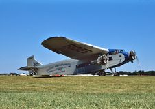 Eksperymentalny samolotu skojarzenia Ford 4-ATE Tri silnik NC8407 Obraz Royalty Free
